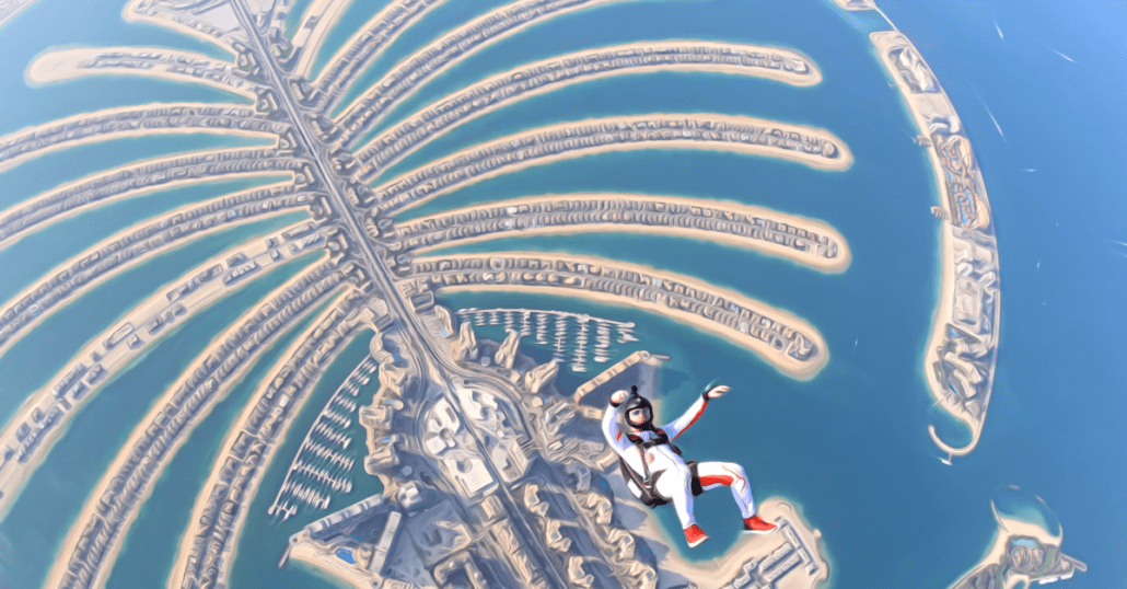 Dubai Palm Island View