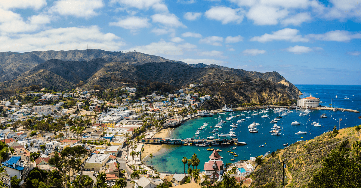 view from catalina island