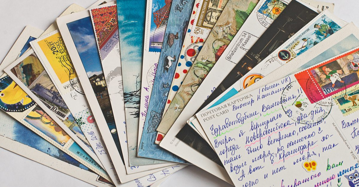 postcards - travel from home