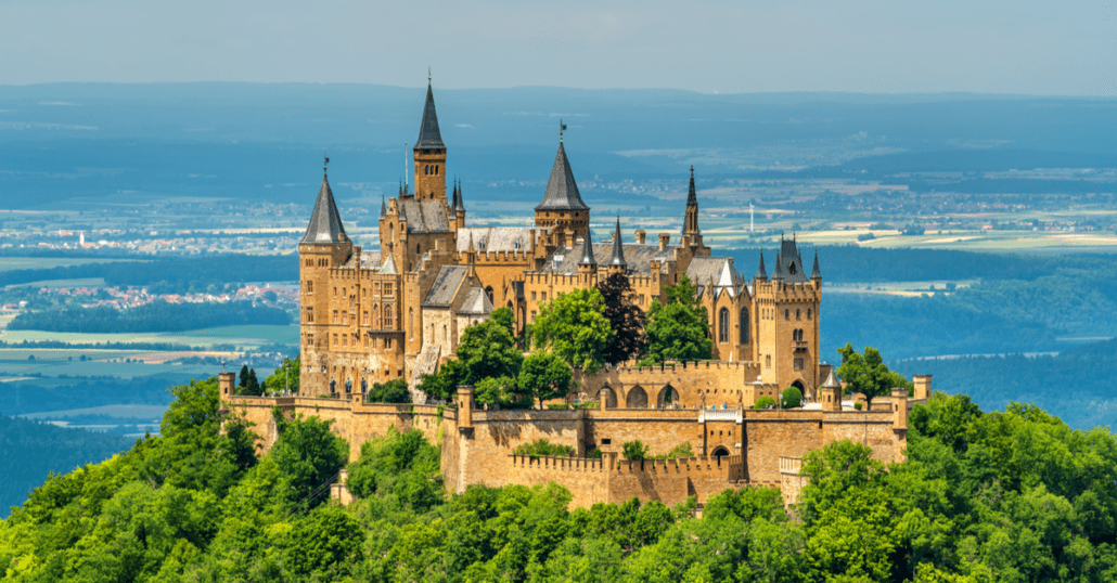 view of Hohenzollern Castle in germany