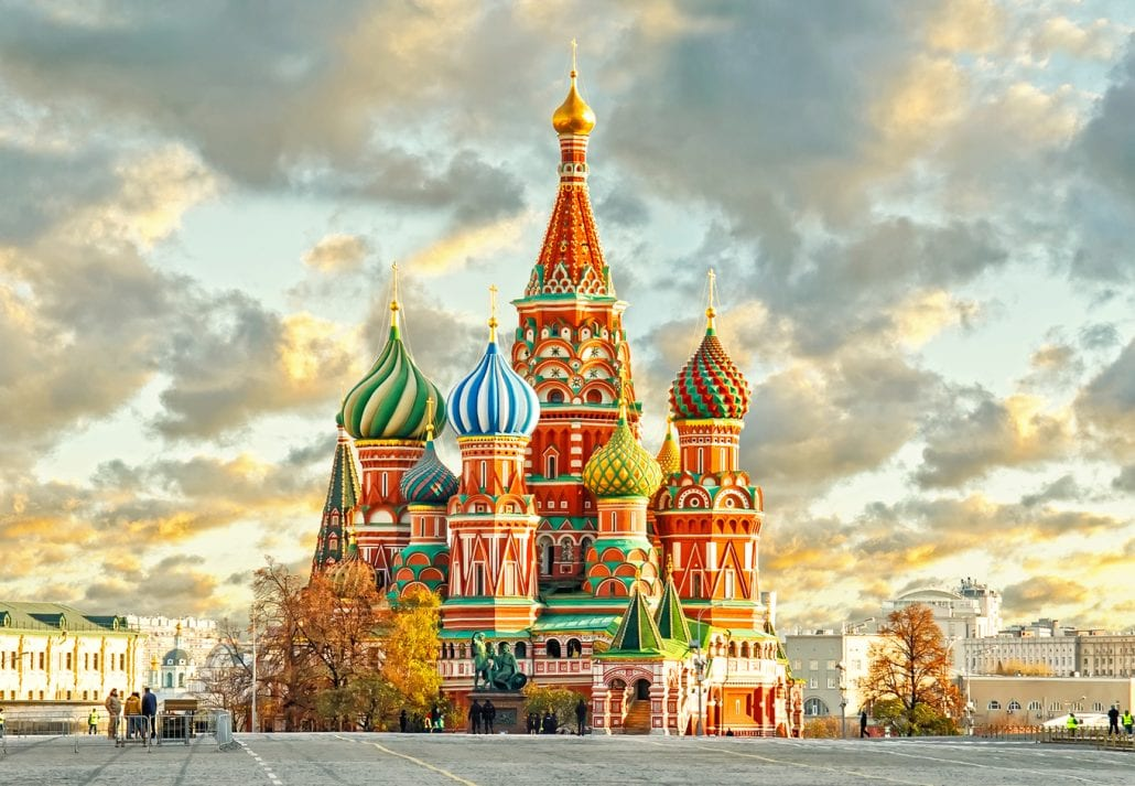 Saint Basil Cathedral, Russia.