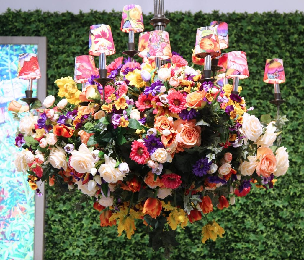 Lenox by Mello Tablescape flower decoration during famous Macy's Annual Flower Show in the Macy's Herald Square in midtown Manhattan