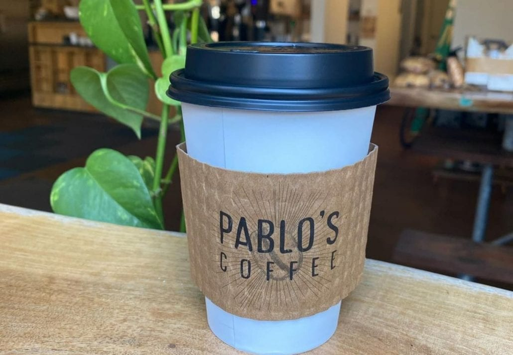 Cup of coffee to go from Pablo's Coffee, Colorado