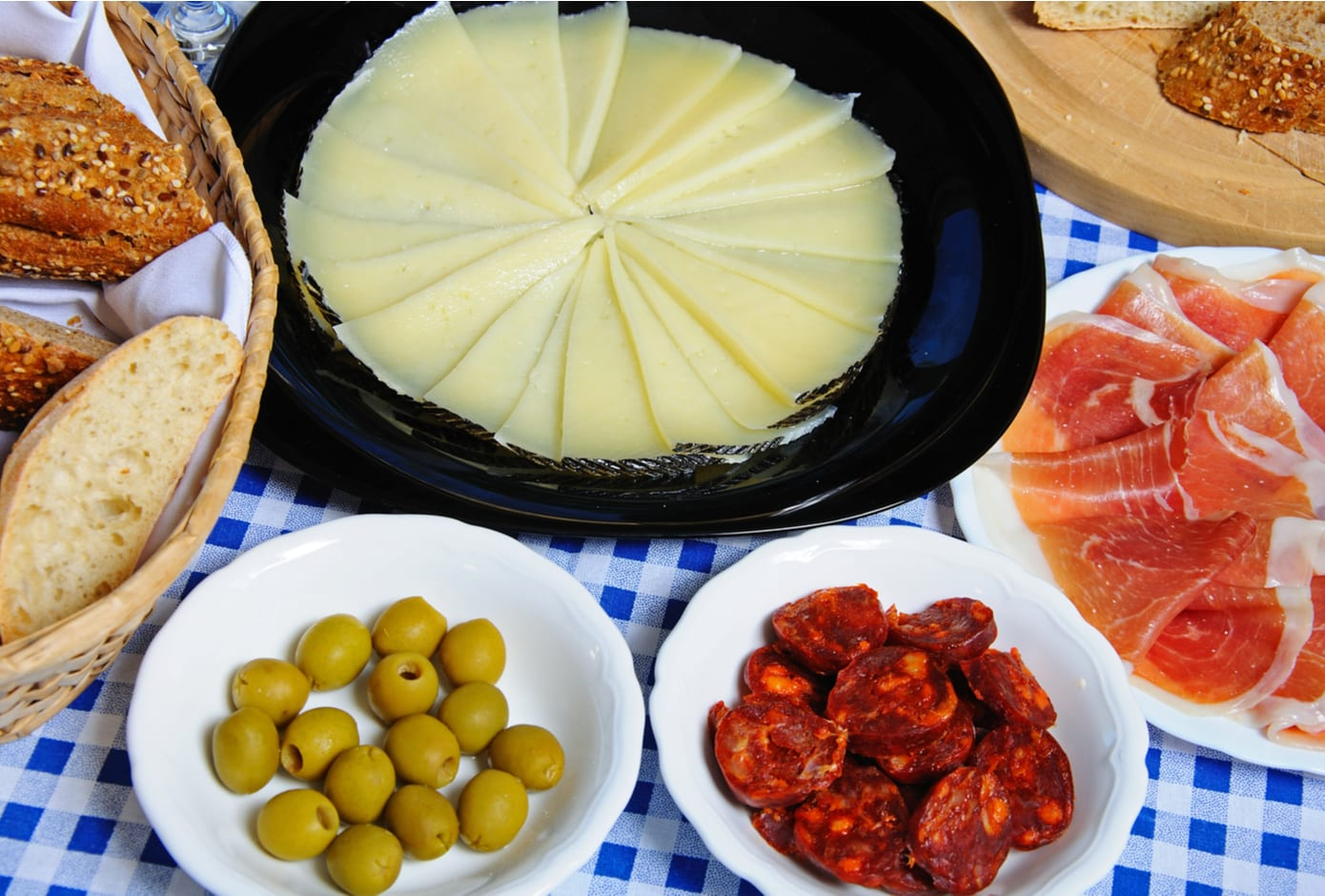 A selection of Andalucian tapas.