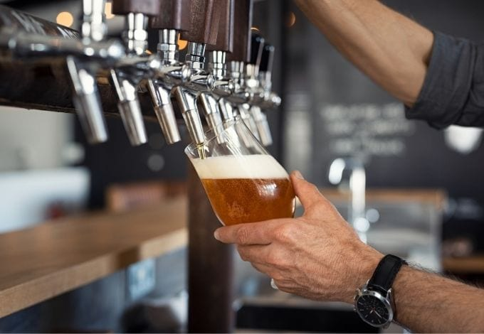 Craft beer from the tap.