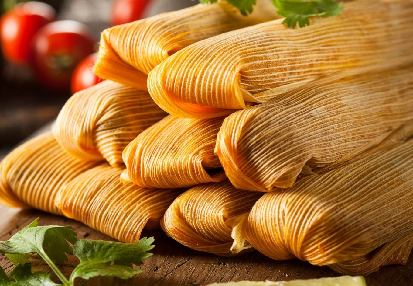 A pile of Mexican tamales.