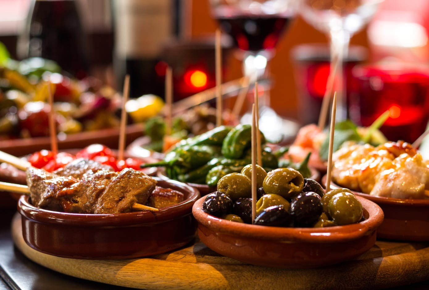 A selection of Spanish tapas.