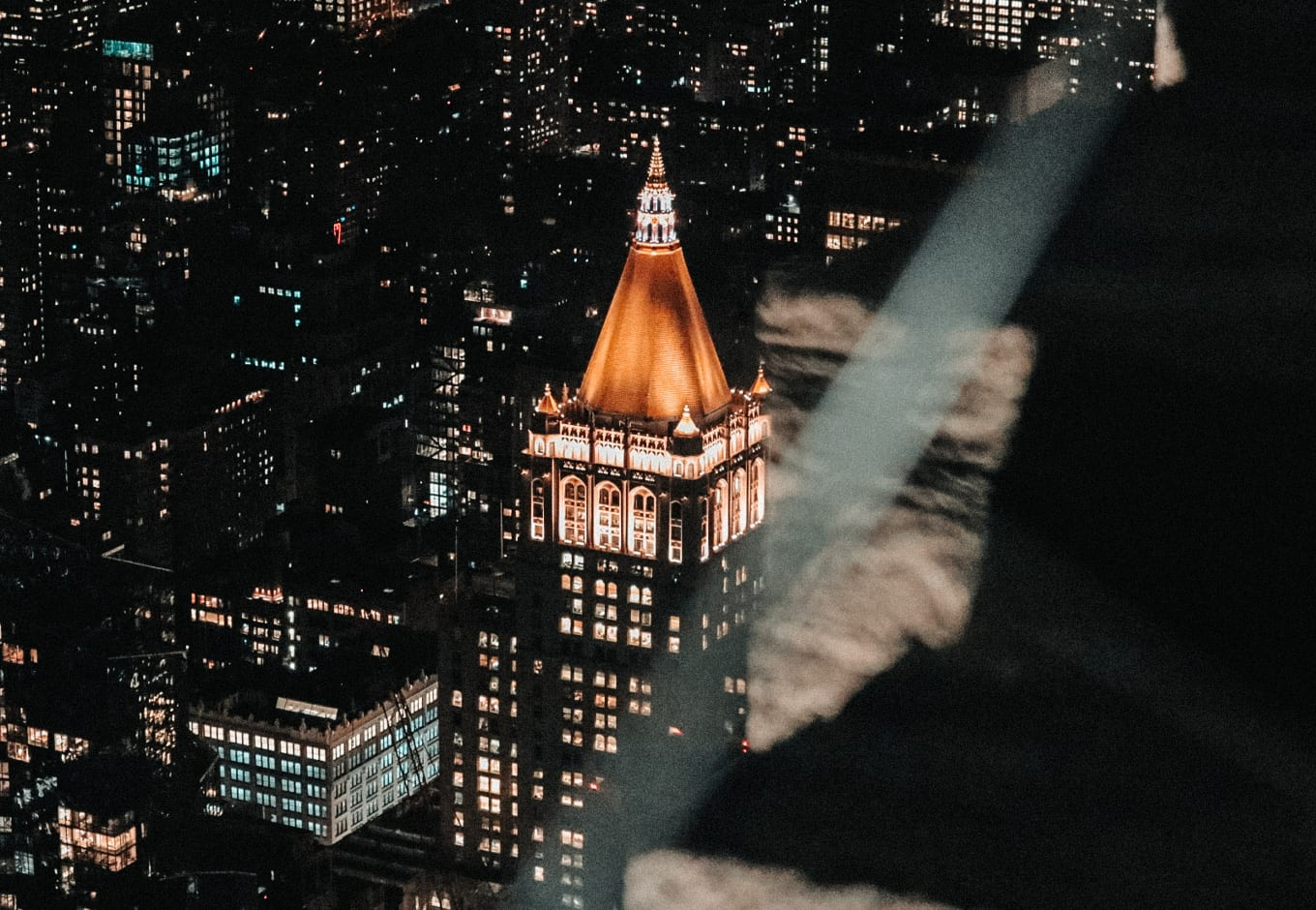 Empire State Building in NYC during Christmas