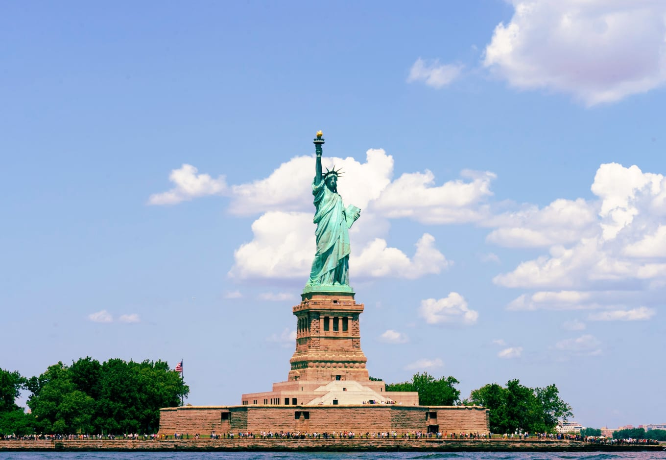 Statue of liberty in NYC this week