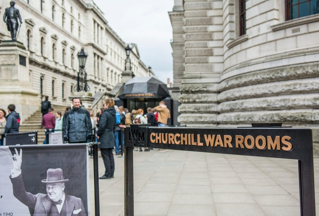 The Churchill War Rooms, one of London's Imperial War Museums.