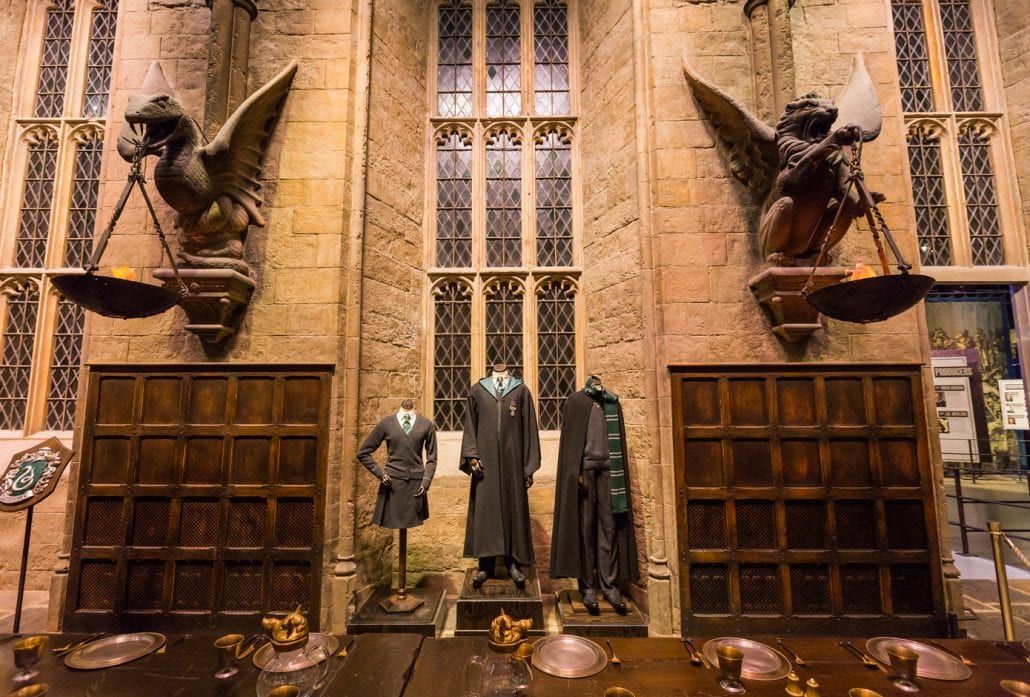The Hall in the Warner Brothers Studio tour 'The making of Harry Potter'.