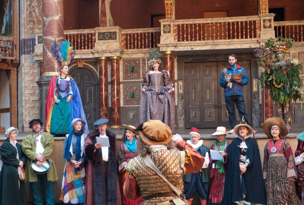 The Lions Part Performers At Shakespeare's Globe.
