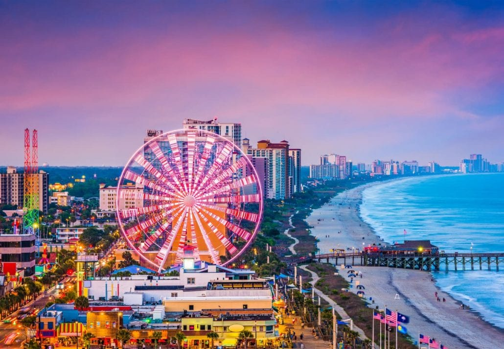 The Myrtle Beach Skywheel is a 187-foot tall Observation wheel located in Myrtle Beach, South Carolina