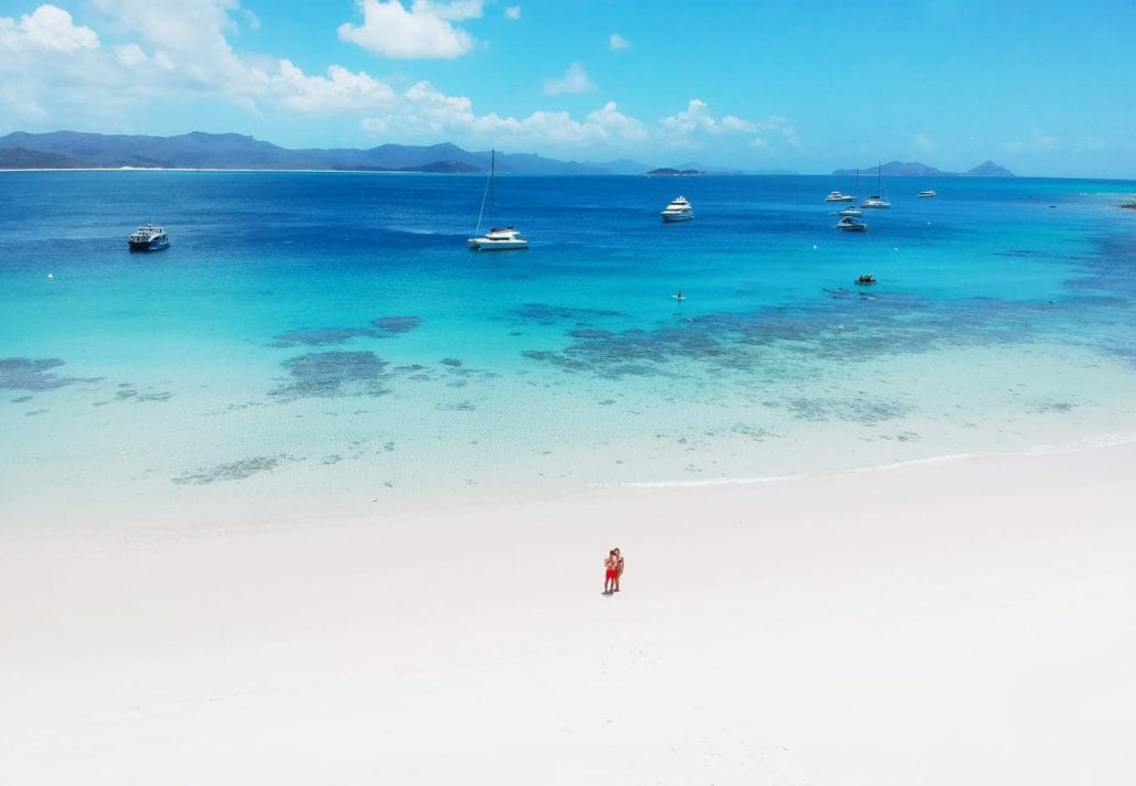 Cute couple on the beach in Australia in Whitsundays