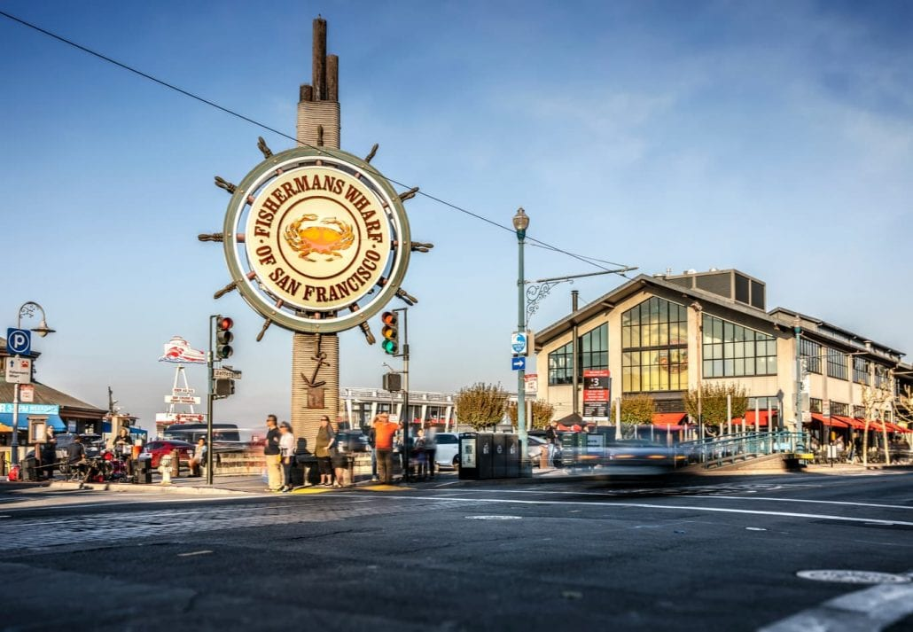 The Famous sign at Fisherman's wharf, in San Francisco, California.