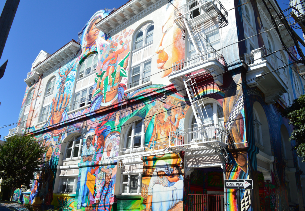 The Women's Building in the Mission District, São Francisco, California.