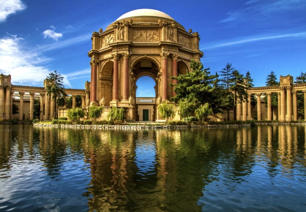 The Palace of Fine Arts, in San Francisco, California.