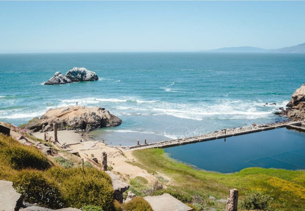 Scenic view from Sutro Baths Upper Trail.