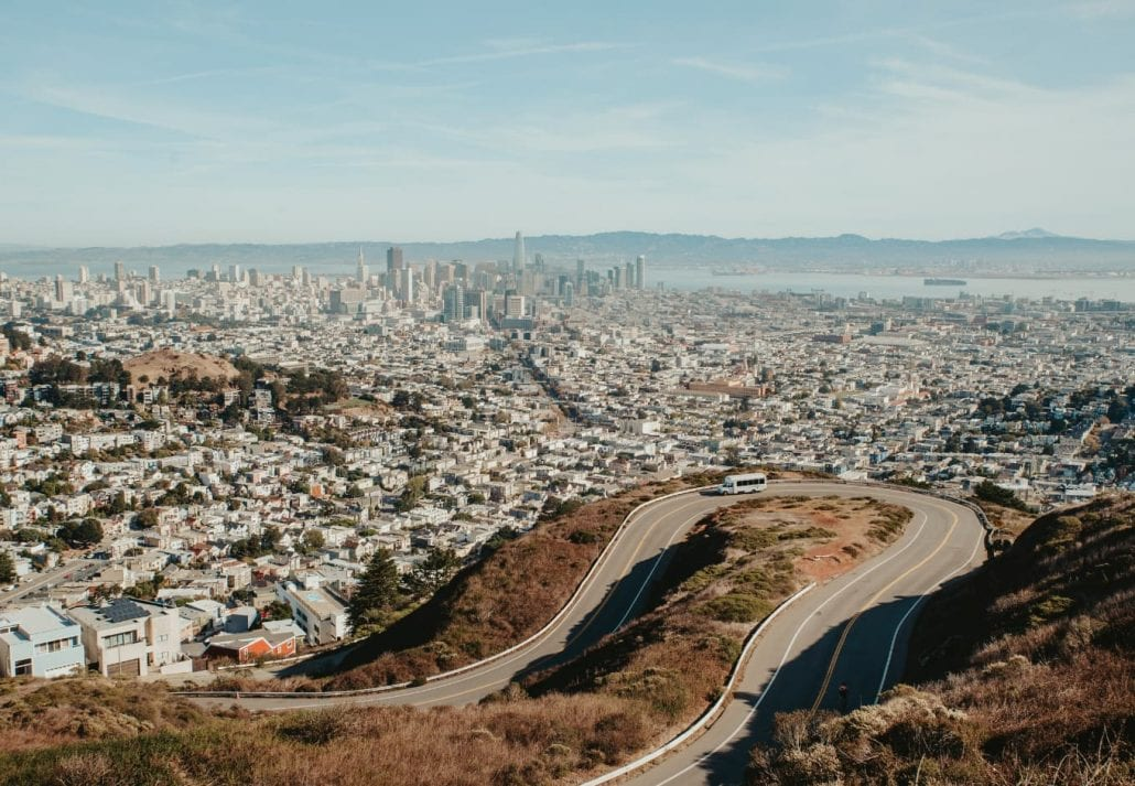 View from Christmas Tree Point in Twin Peaks, San Francisco