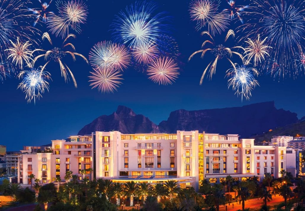 Fireworks in Cape Town (South Africa)