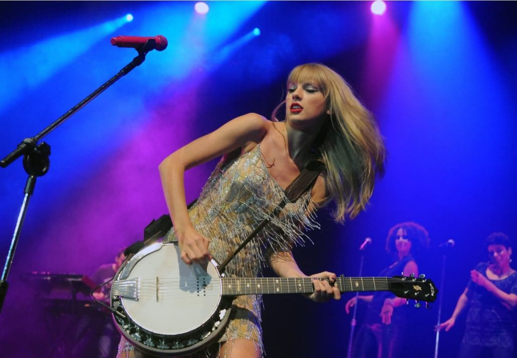 Singer Taylor Swift during her show.
