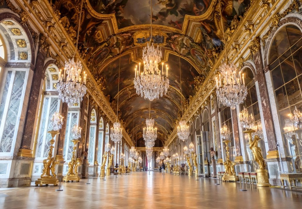 Inside Versailles Palace, France.