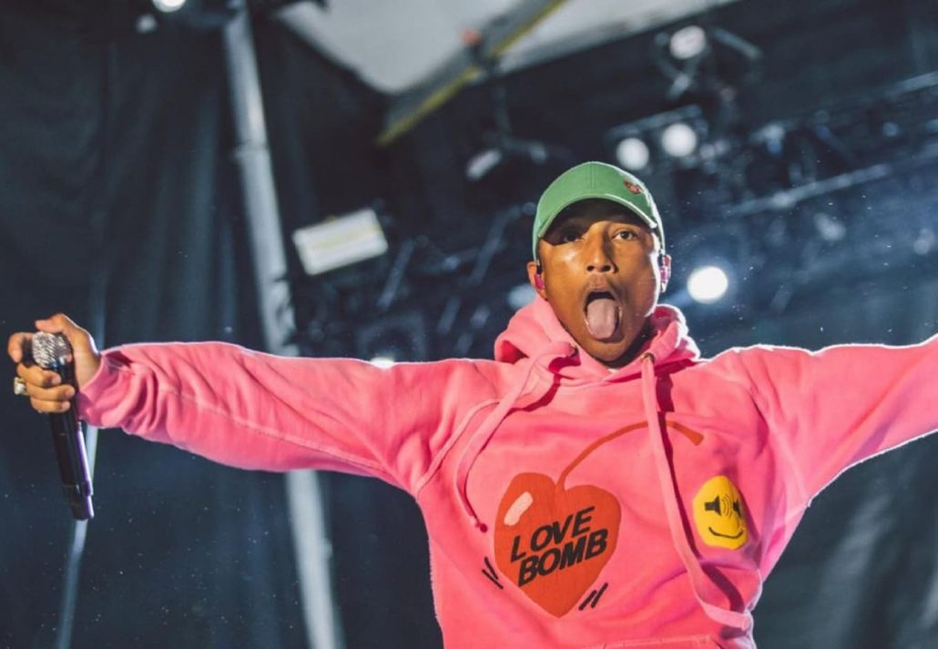 Pharell Williams performing at Afropunk Festival.