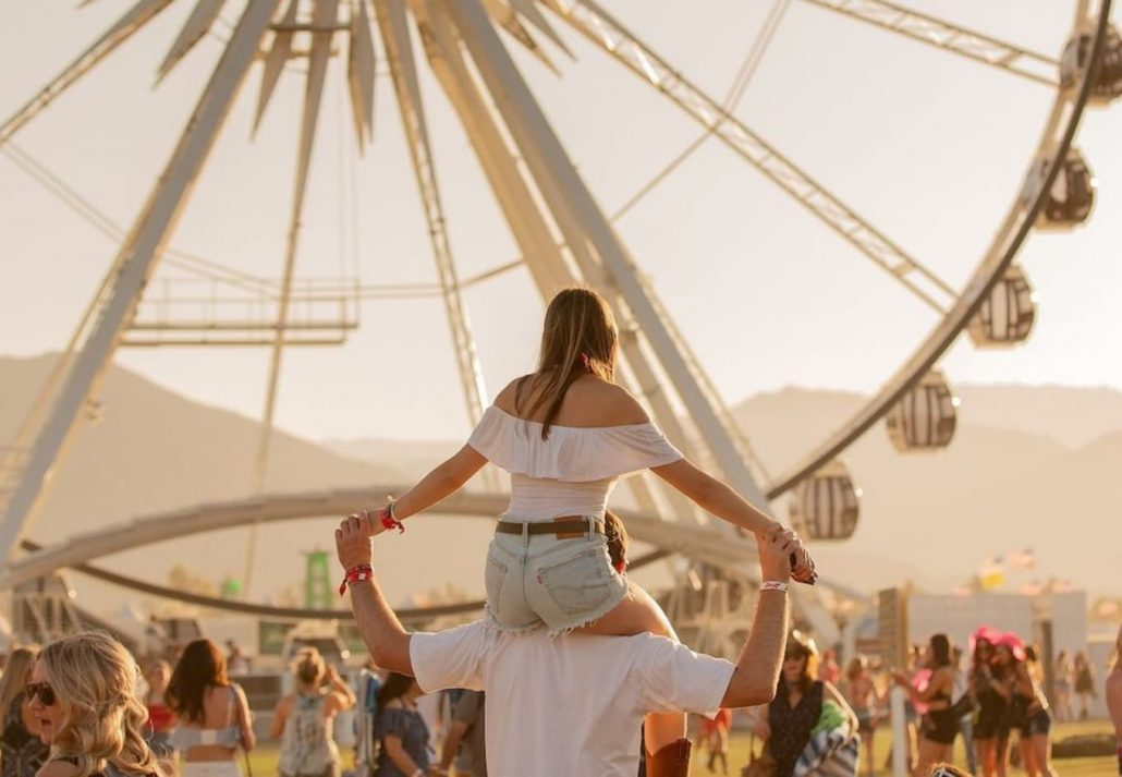 Crowd at Stagecoach Festival, Indio, California.