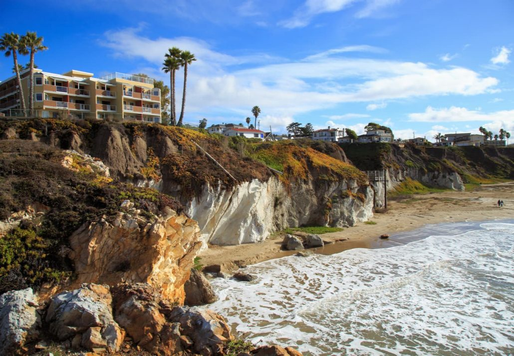 Pismo beach, California, on a sunny afternoon.