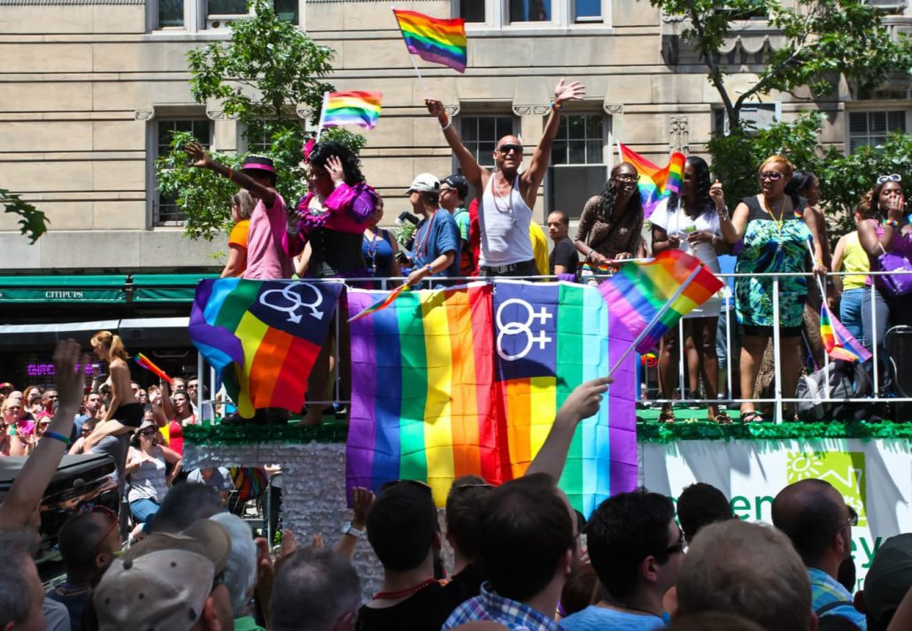 Greenwich Village's annual gay pride parade & festival commemorates the anniversary of the Stonewall Riots